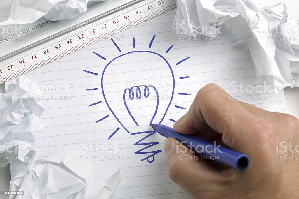 Having a bright idea royalty-free stock photo