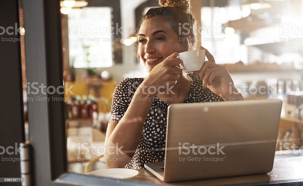 Having a carefree day stock photo