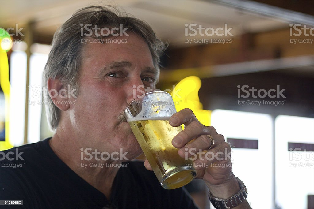 Having a Cold One royalty-free stock photo