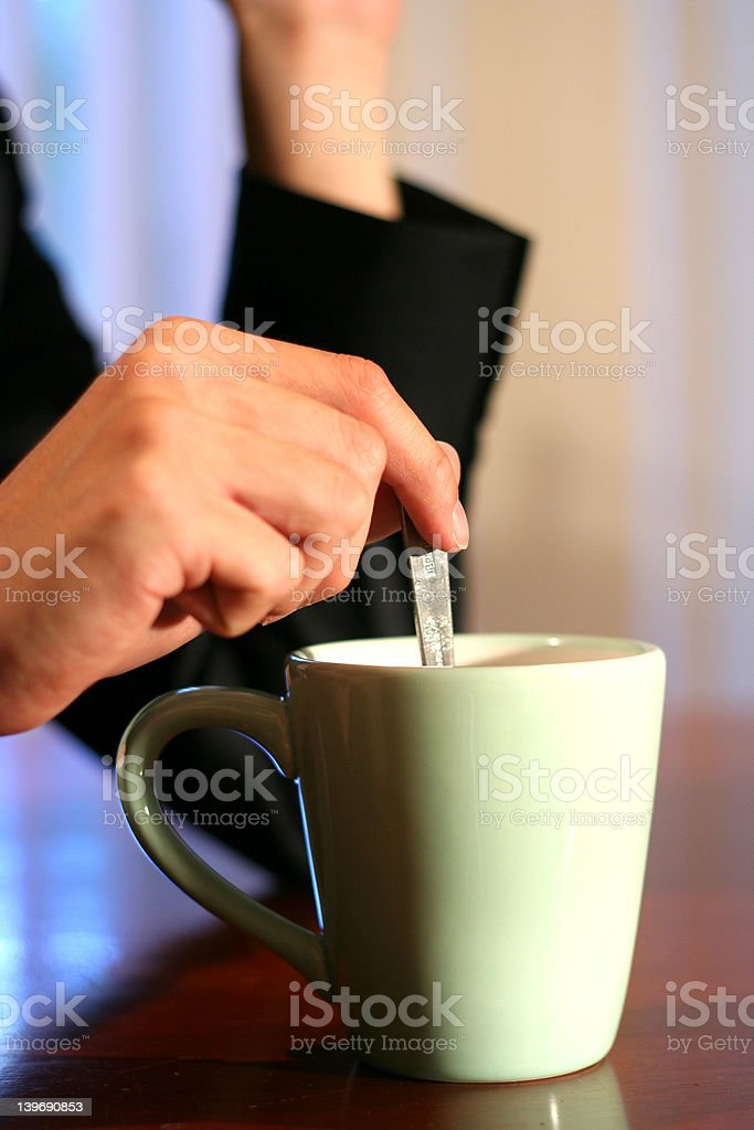 Having A Cuppa royalty-free stock photo