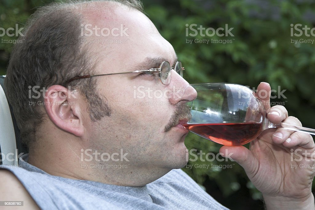 Having a drink royalty-free stock photo