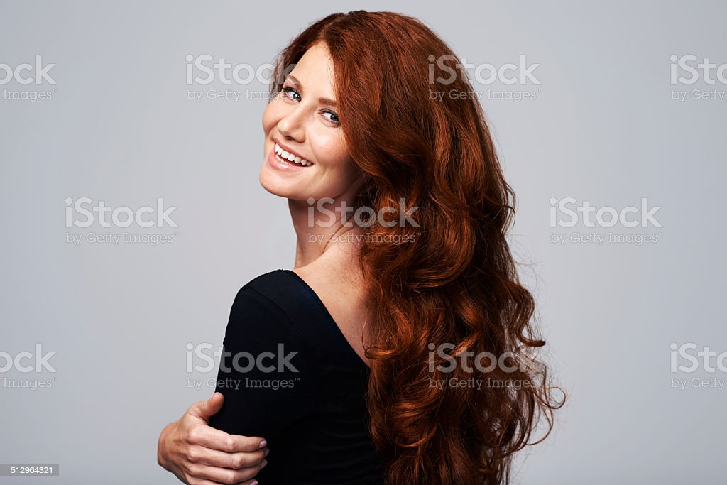 Having a good hair day stock photo