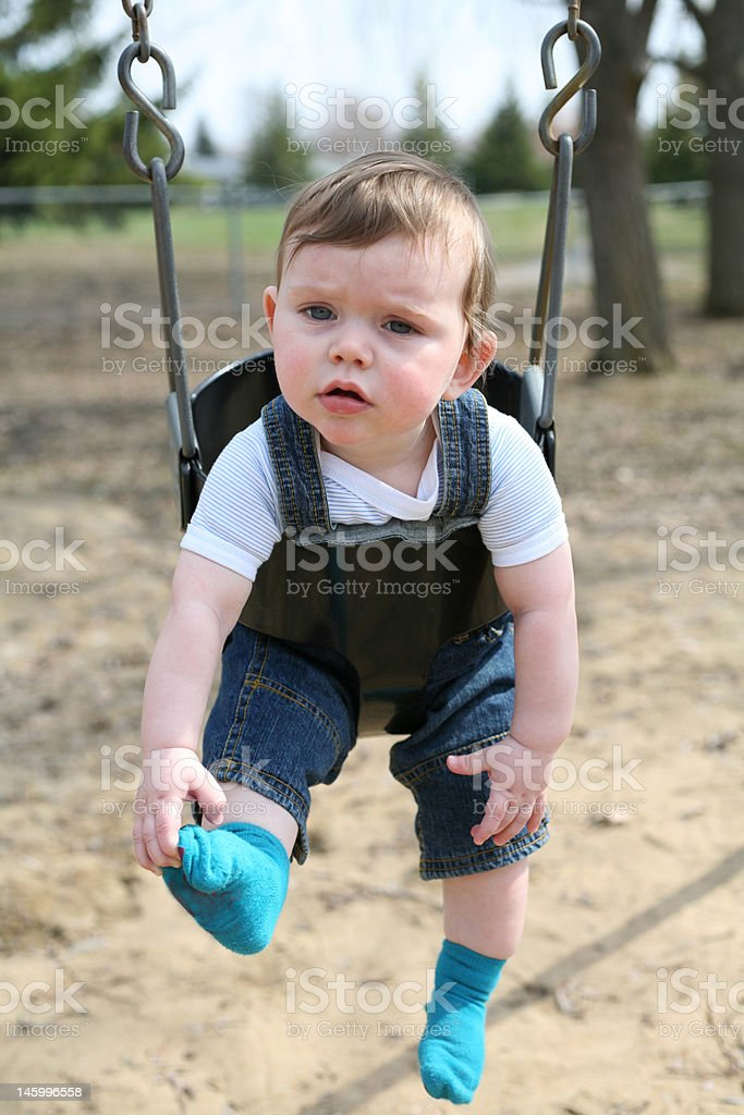 Having a good time swinging royalty-free stock photo