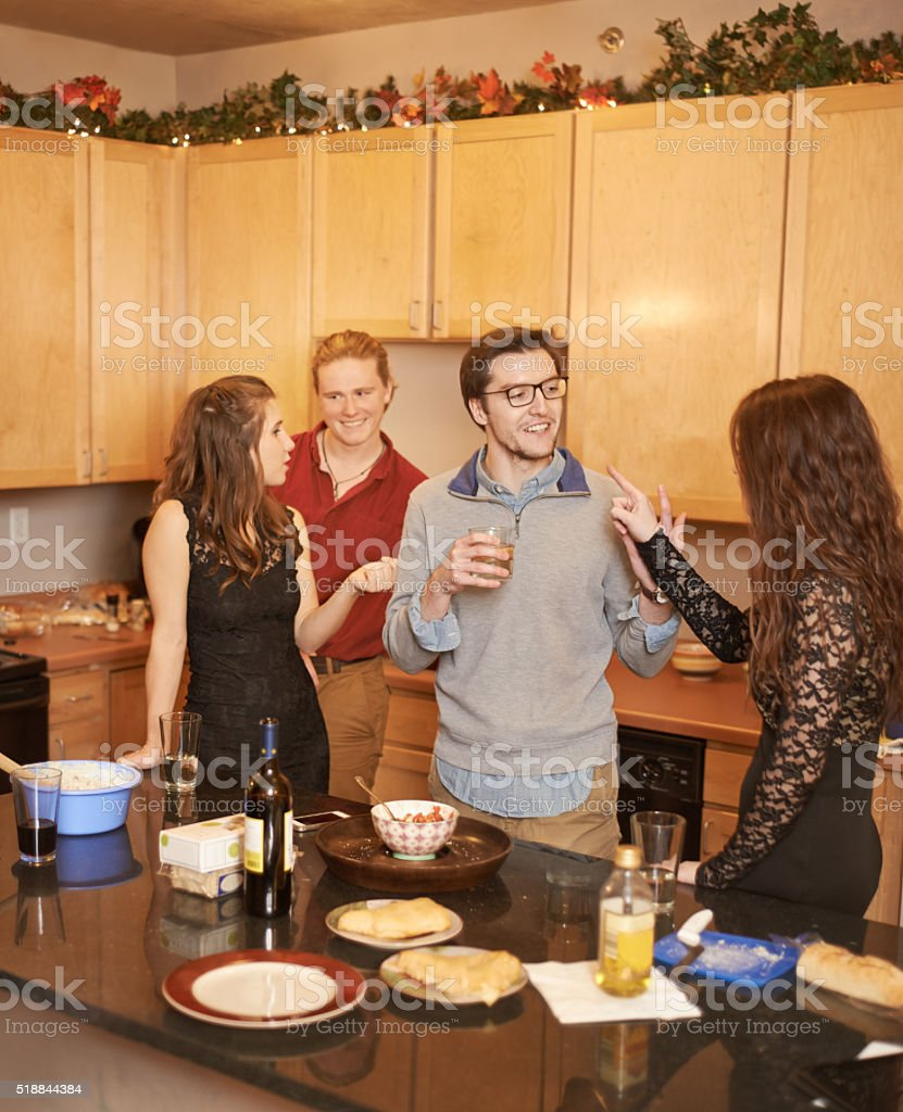 Having a good time with great friends stock photo