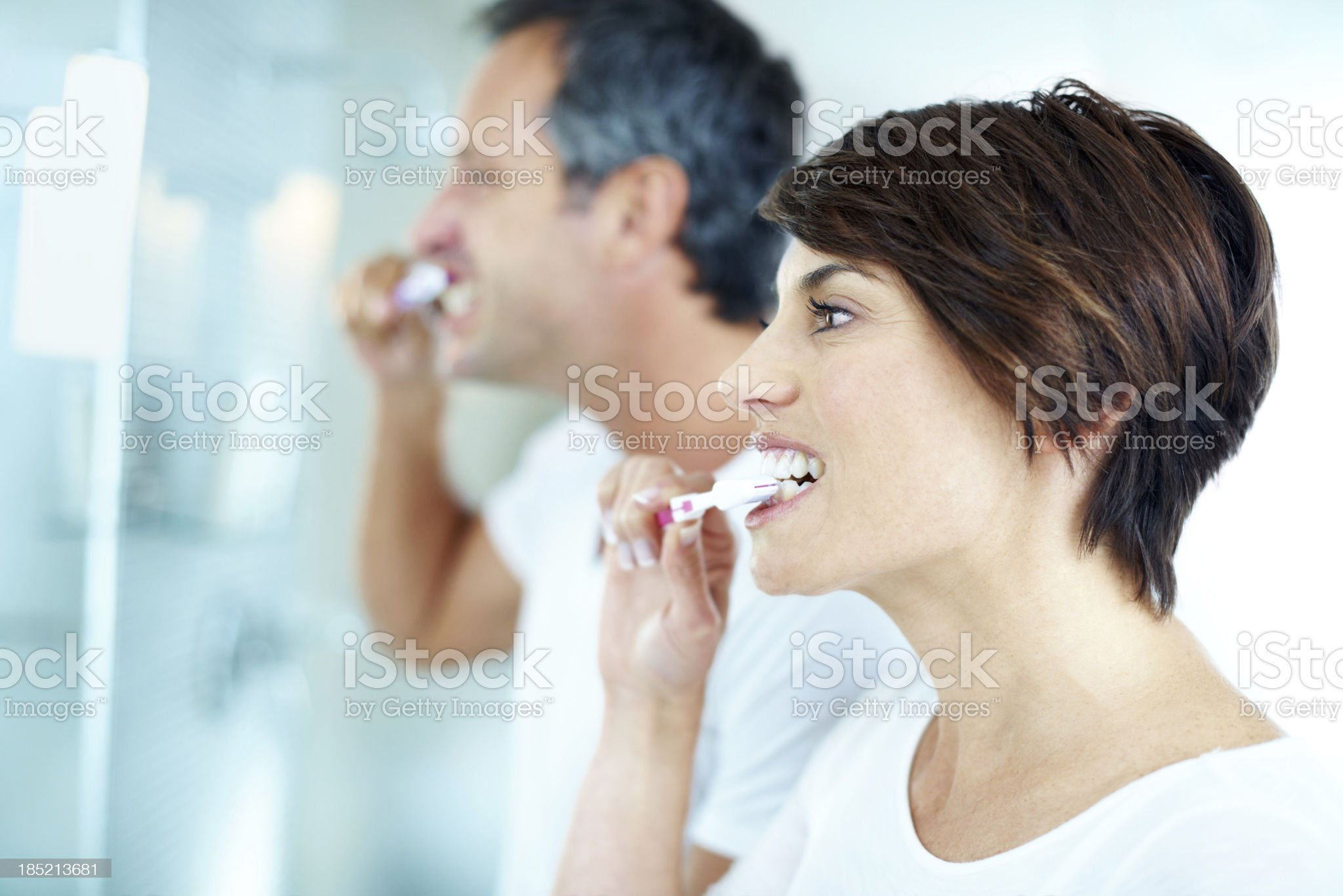 Having a healthy morning routine royalty-free stock photo