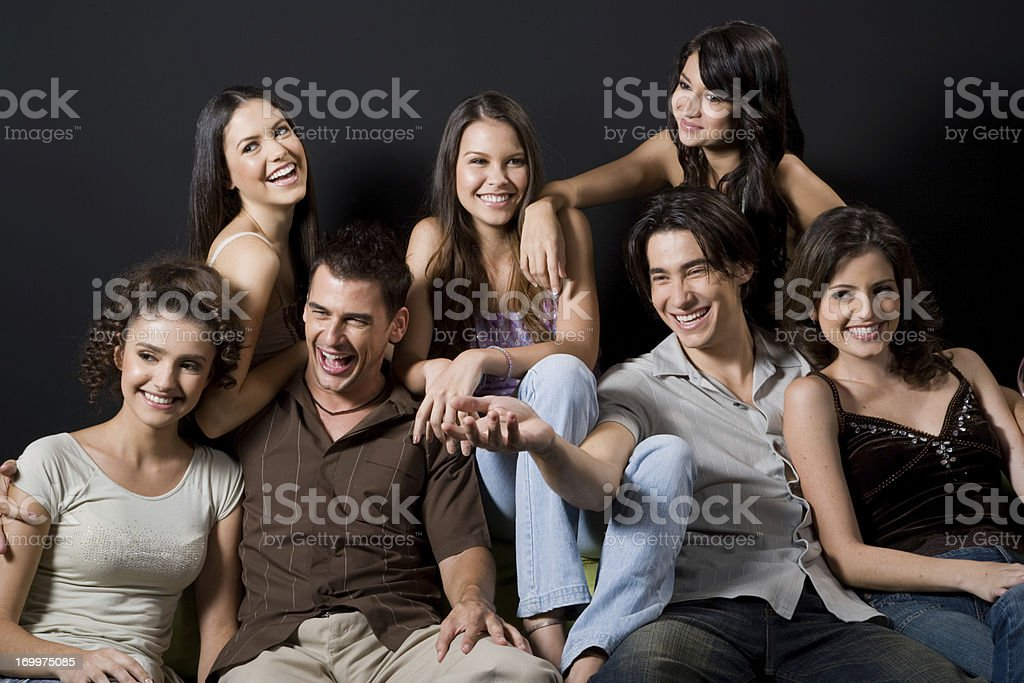 Having A Laugh royalty-free stock photo