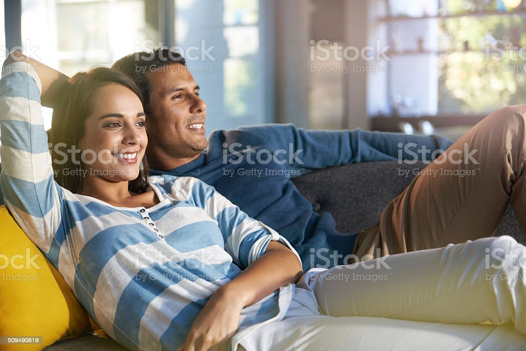 Having a lazy afternoon stock photo