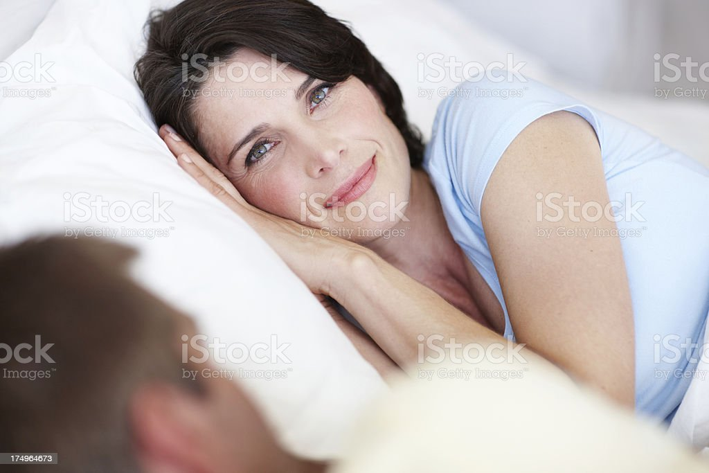 Having a lazy lie-in royalty-free stock photo
