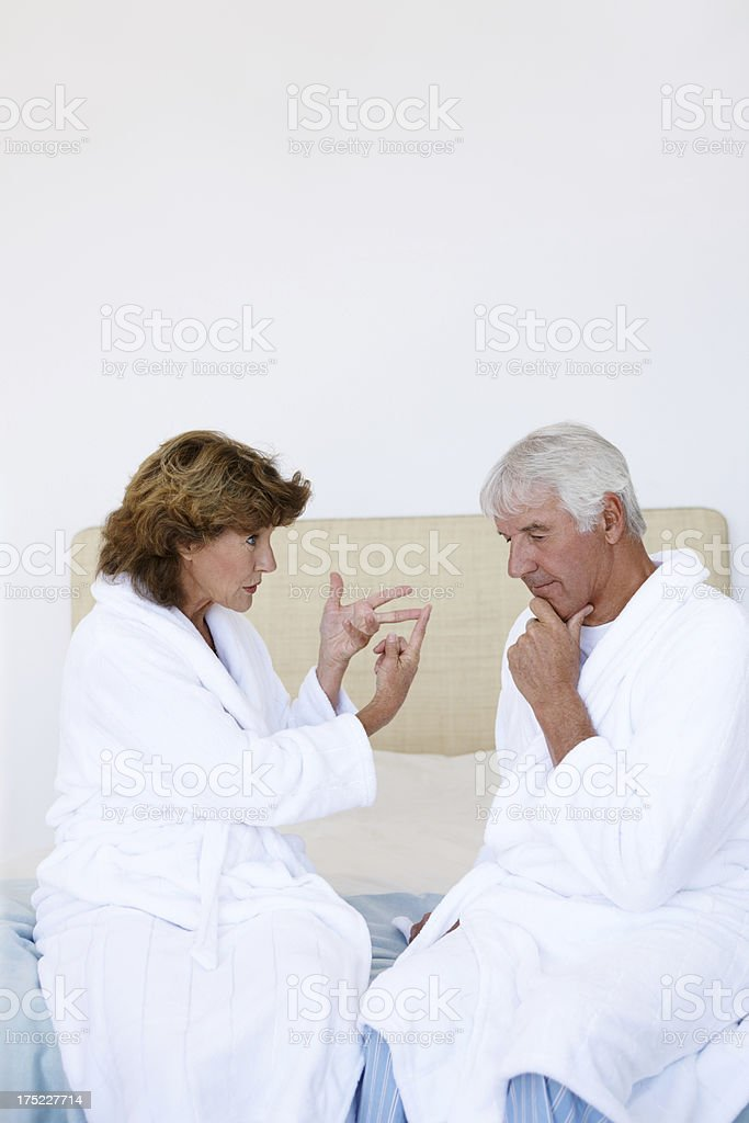 Having a marital discussion royalty-free stock photo