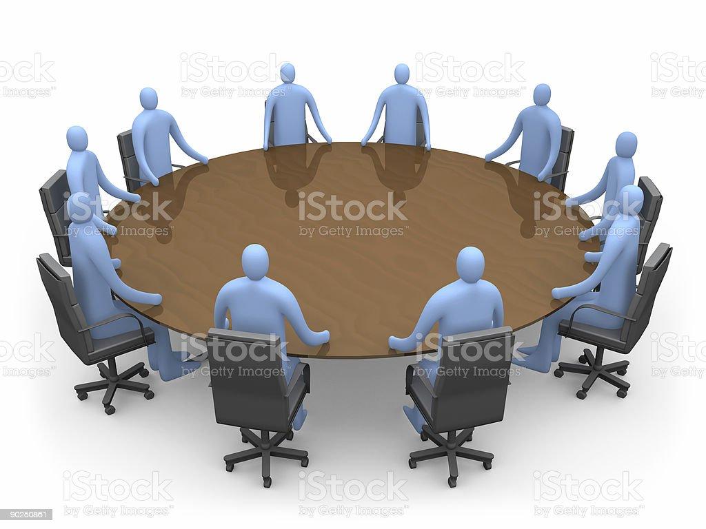 Having A Meeting royalty-free stock photo