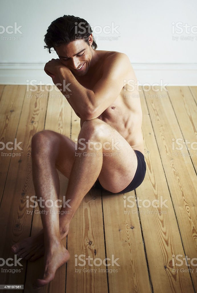 Having a moment of shyness royalty-free stock photo