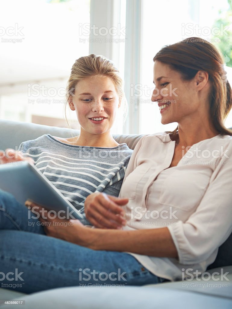 Having a mother to daugther conversation royalty-free stock photo