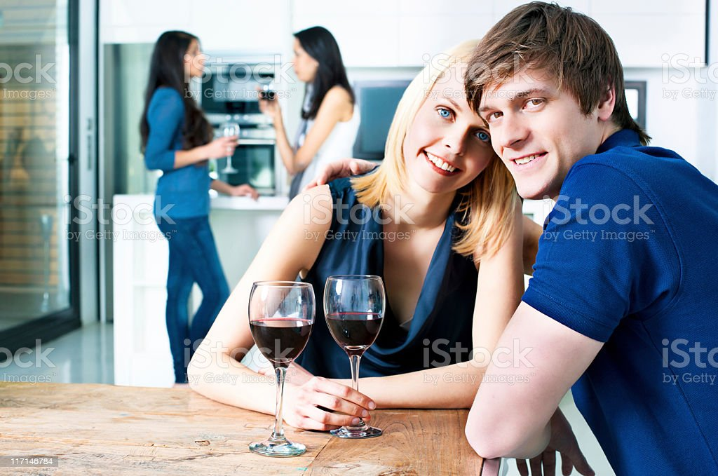 Having a party at home royalty-free stock photo