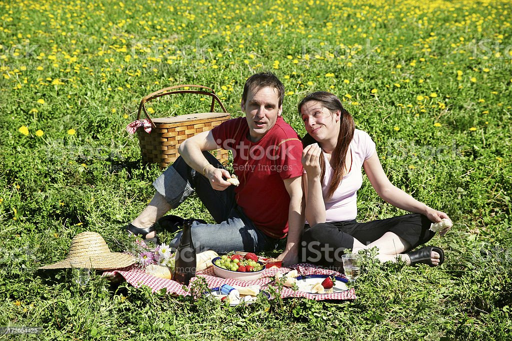 Having a picnic royalty-free stock photo