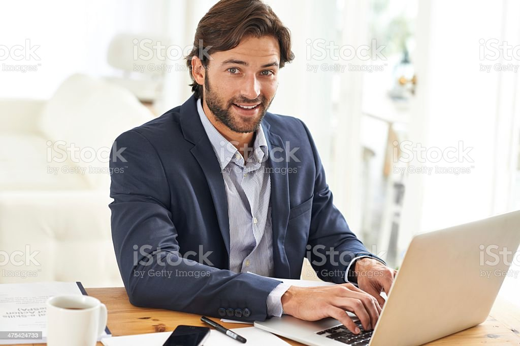 Having a productive day stock photo