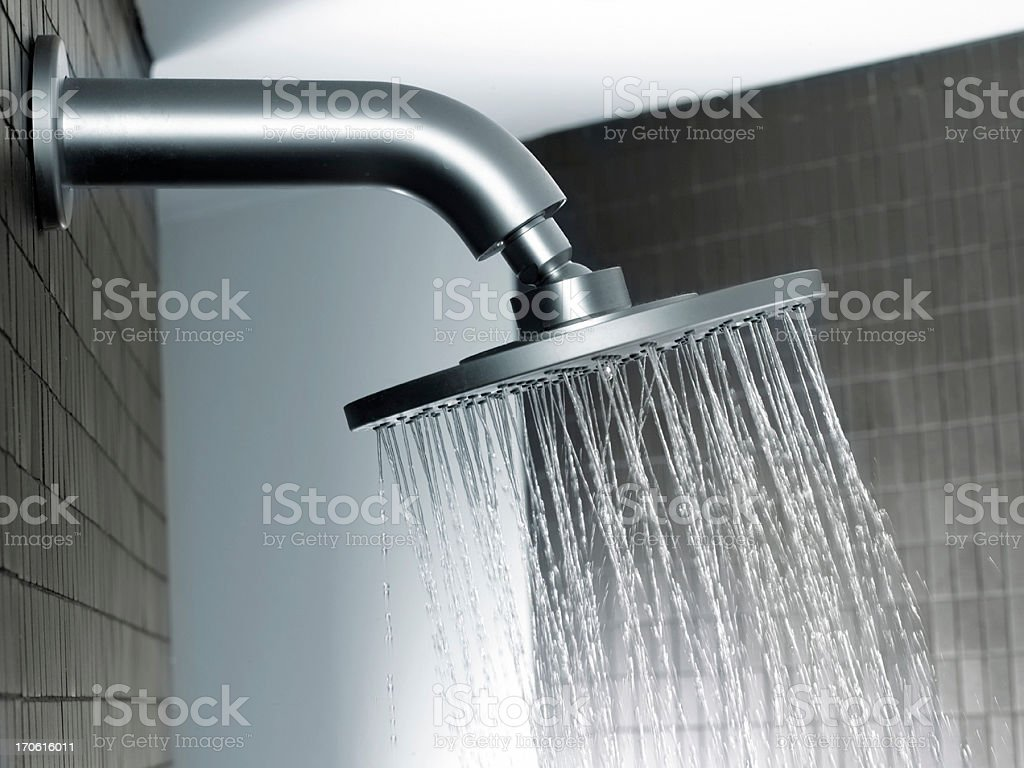 Having a Shower.... royalty-free stock photo