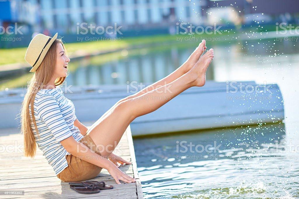 Having a splashing good time stock photo