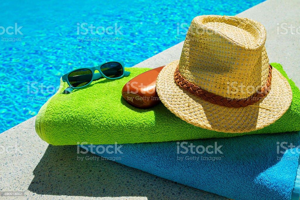 Having a sunbath stock photo