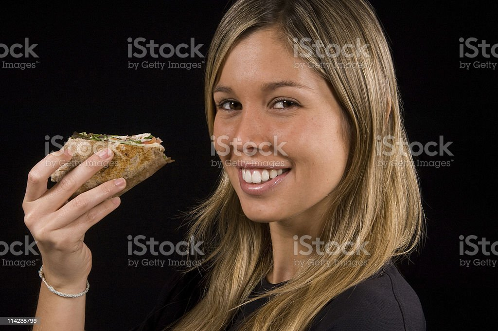 Having a wrap royalty-free stock photo