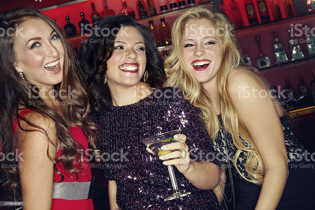 Having an all girls evening! stock photo