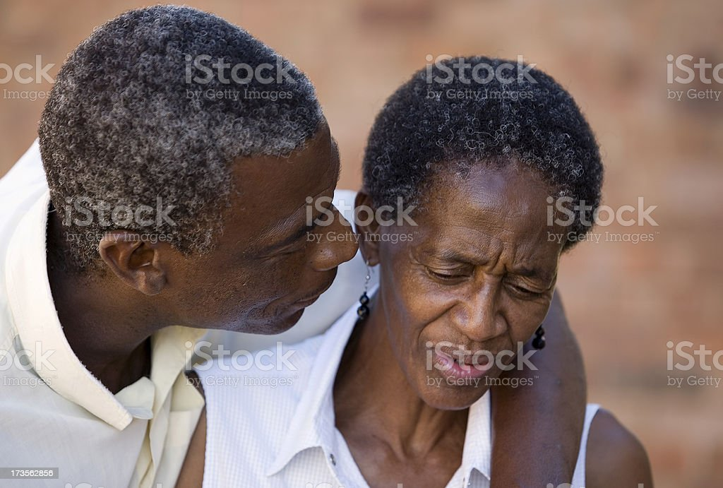 Having an argument royalty-free stock photo