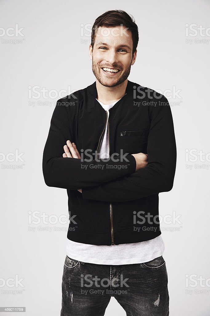 Having confidence is fun stock photo