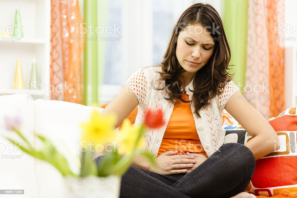 Having cramps stock photo