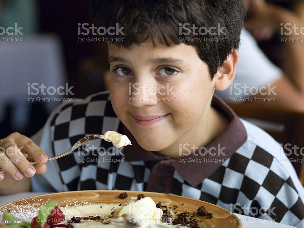 Having dessert royalty-free stock photo