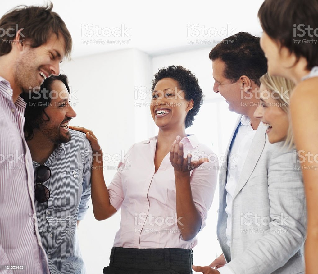 Having friendly chat royalty-free stock photo