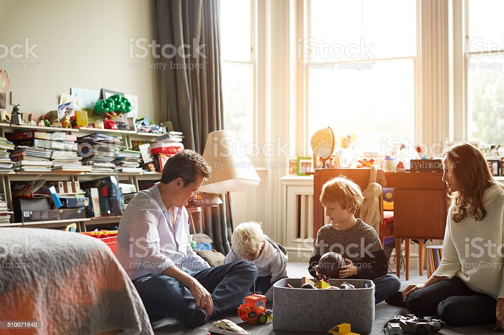 Having fun as a family stock photo