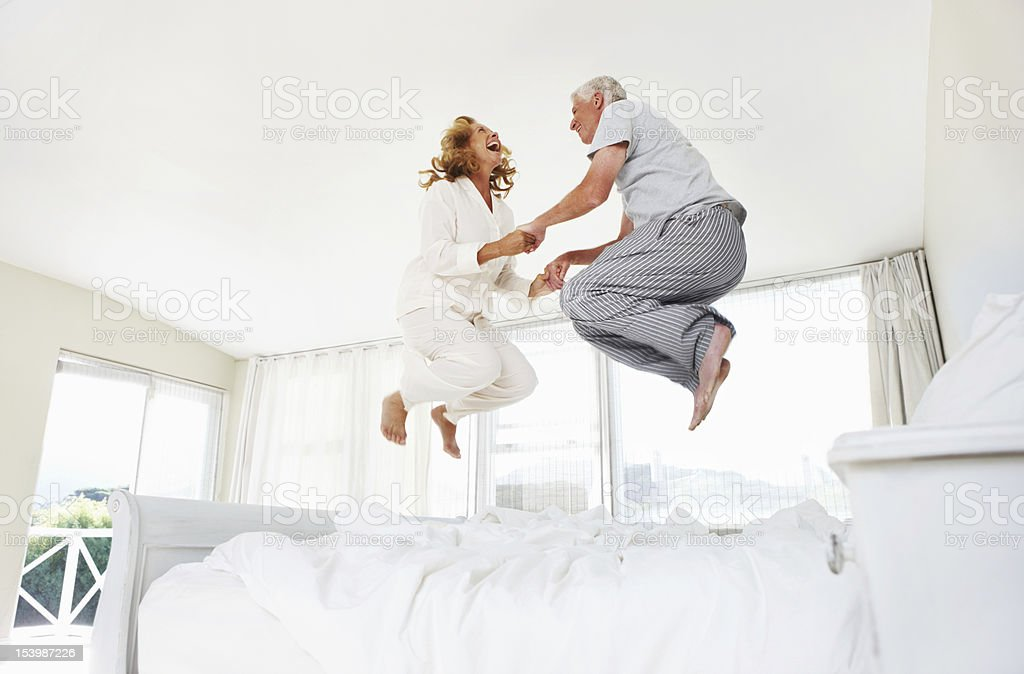 Having fun at any age! stock photo