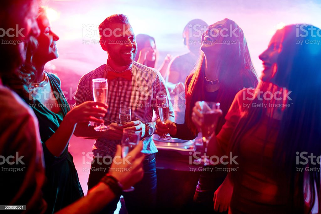 Having fun at party stock photo