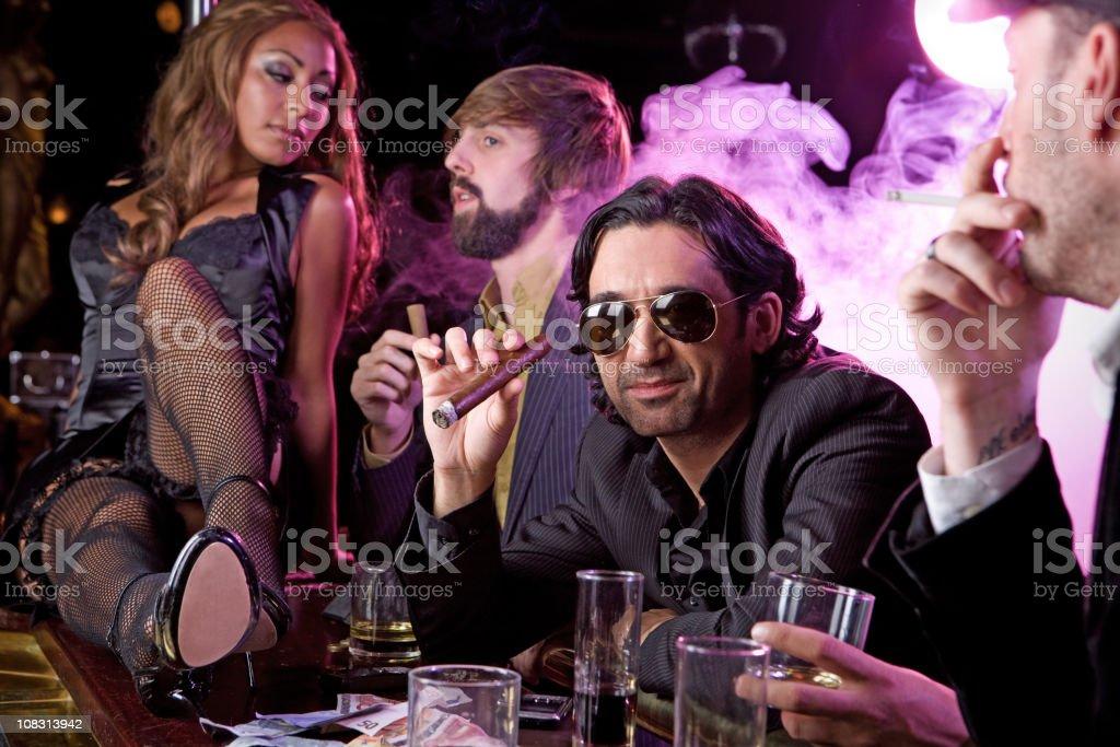 having fun guys royalty-free stock photo