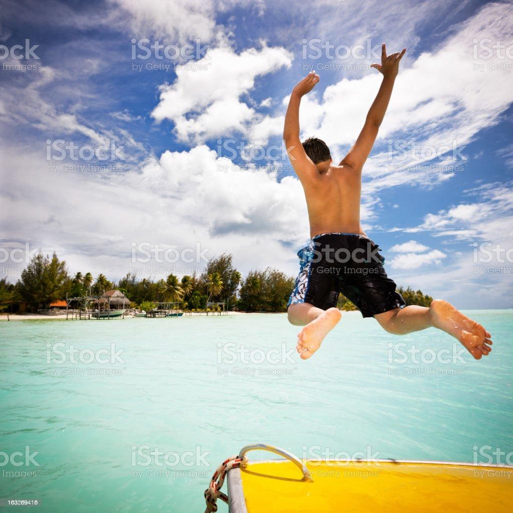 Having Fun Holidays in Paradise royalty-free stock photo