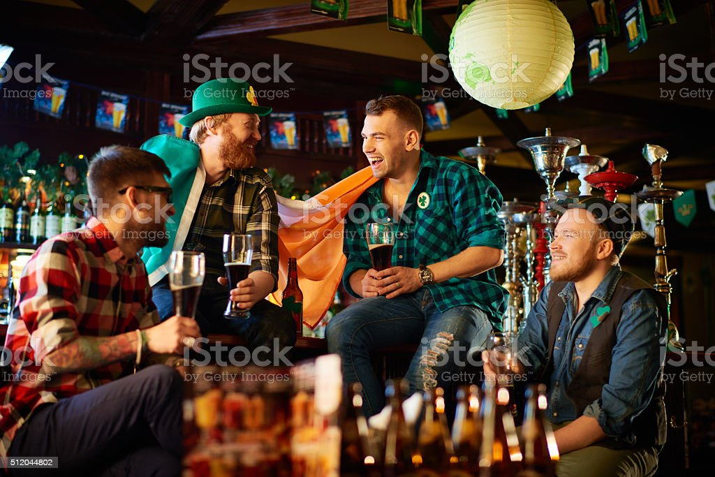 Having fun in Saint Patrick's Day stock photo