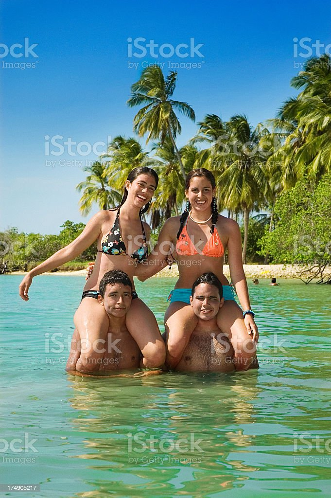 Having fun in the beach royalty-free stock photo