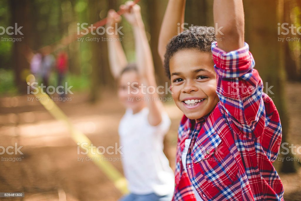 Having Fun in the Great Outdoors stock photo