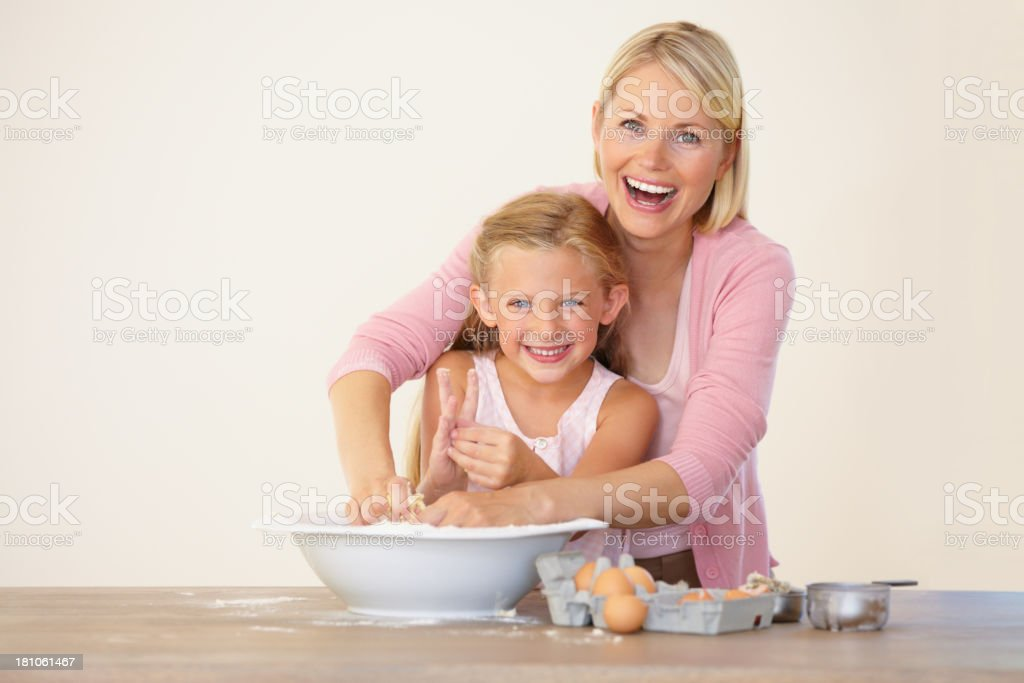 Having fun in the kitchen! royalty-free stock photo