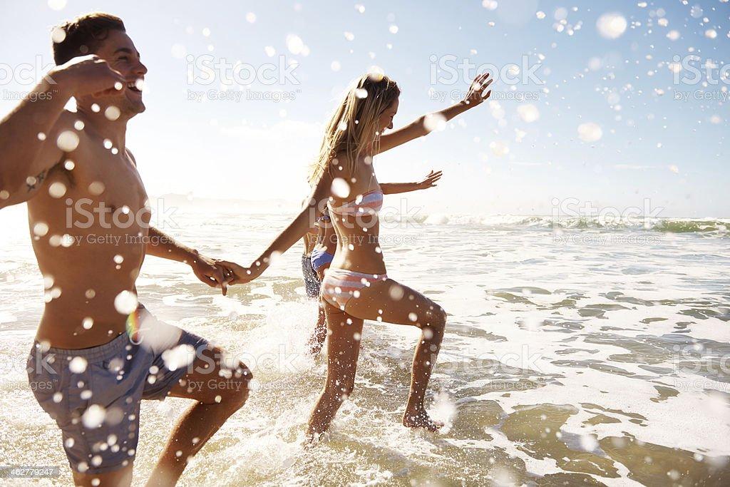 Having fun in the waters stock photo