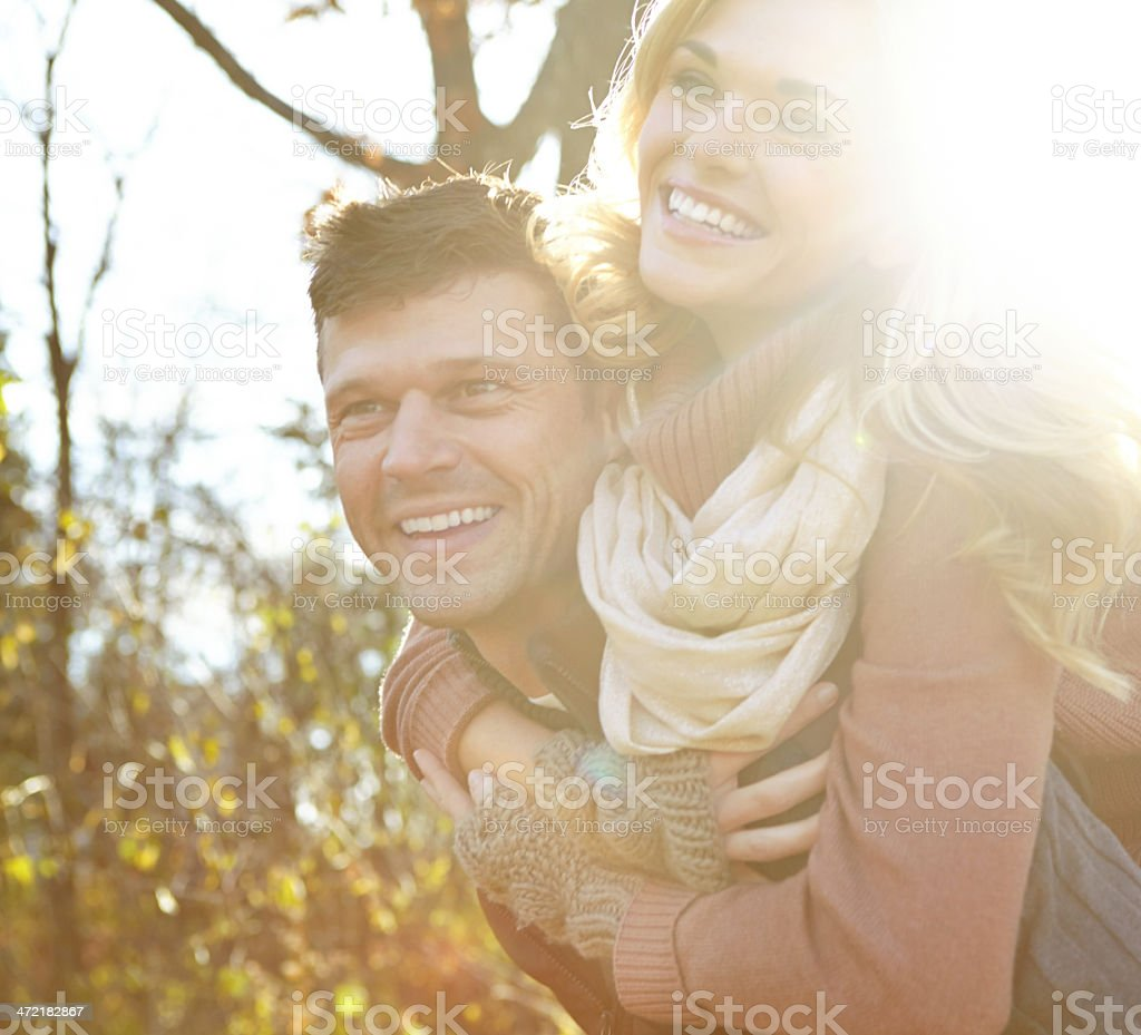 Having fun in the woods royalty-free stock photo