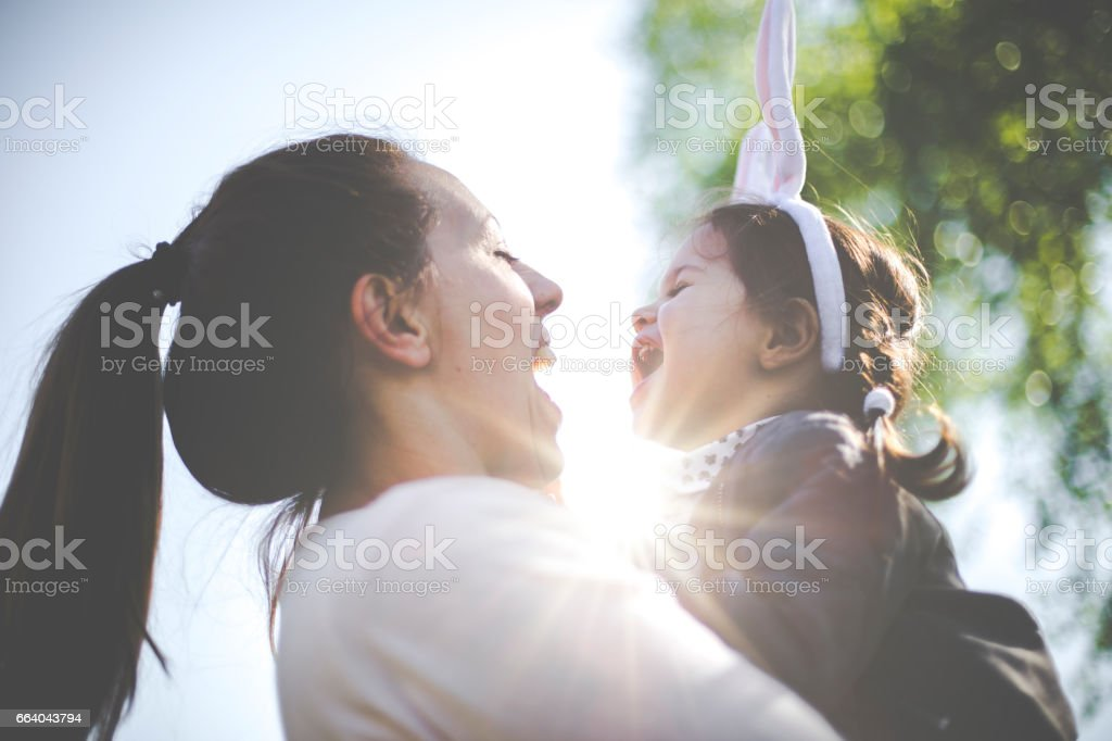 Having fun on Easter stock photo