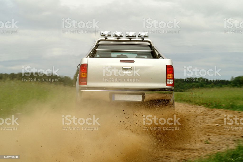 Having fun on gravel stock photo