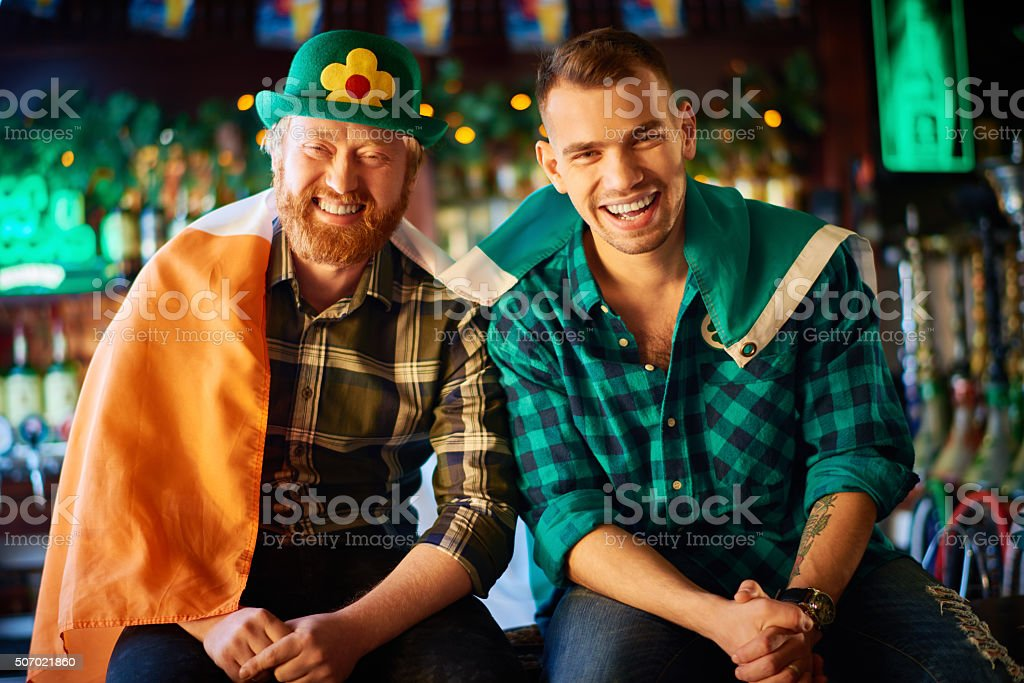 Having fun on Saint Patrick's Day stock photo