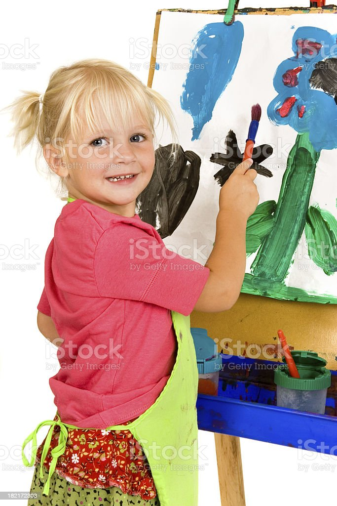 Having fun painting royalty-free stock photo