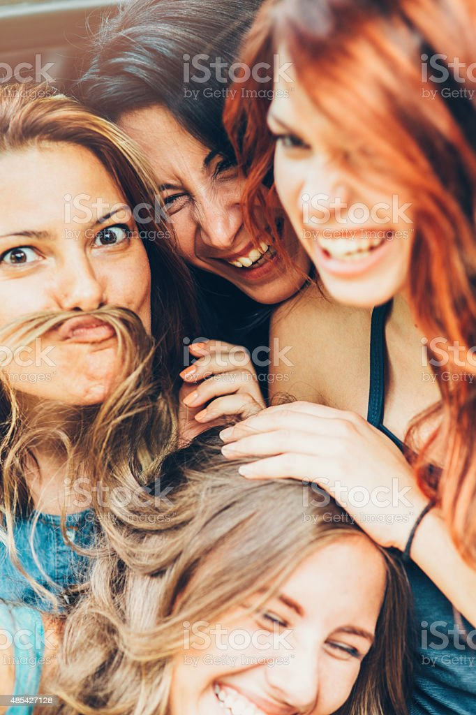 Having fun stock photo
