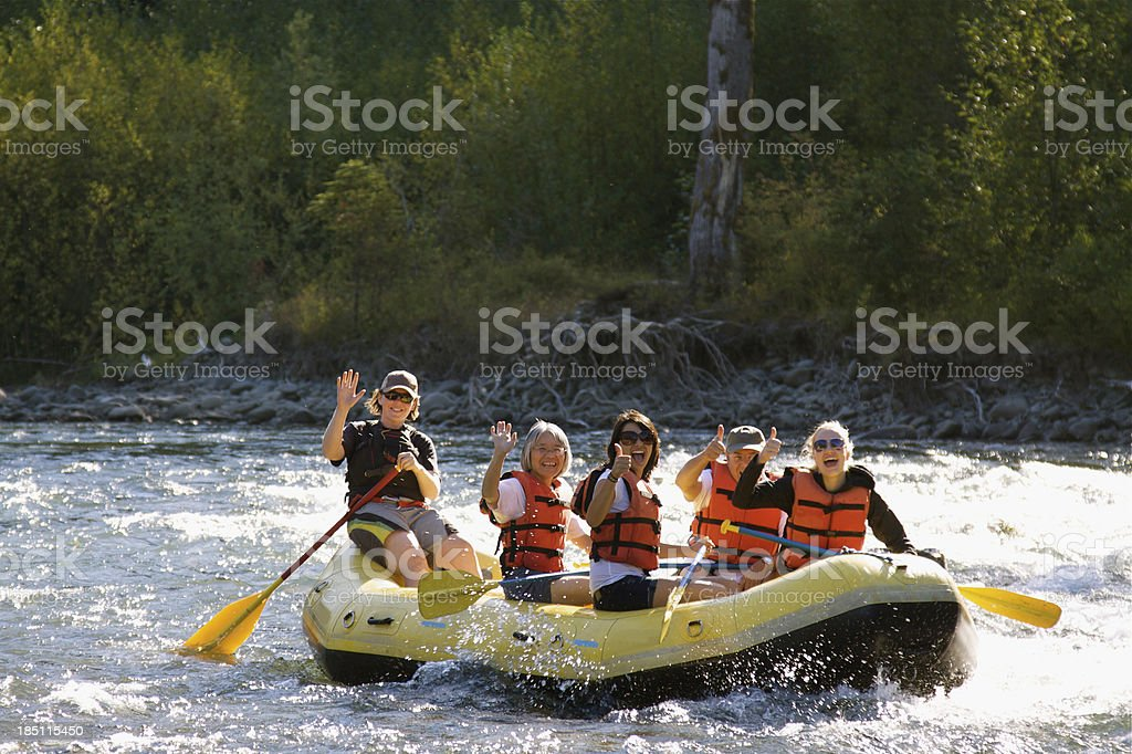Having Fun Rafting stock photo