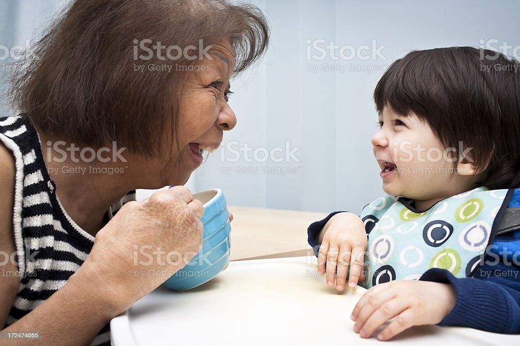 Having fun with Grandma royalty-free stock photo