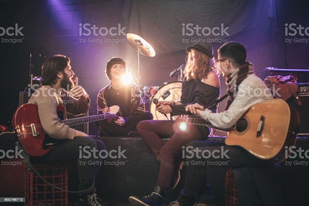 Having fun with instruments stock photo