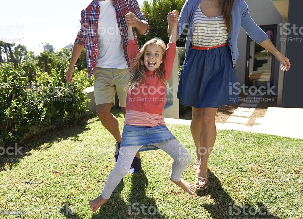 Having fun with mom and dad royalty-free stock photo