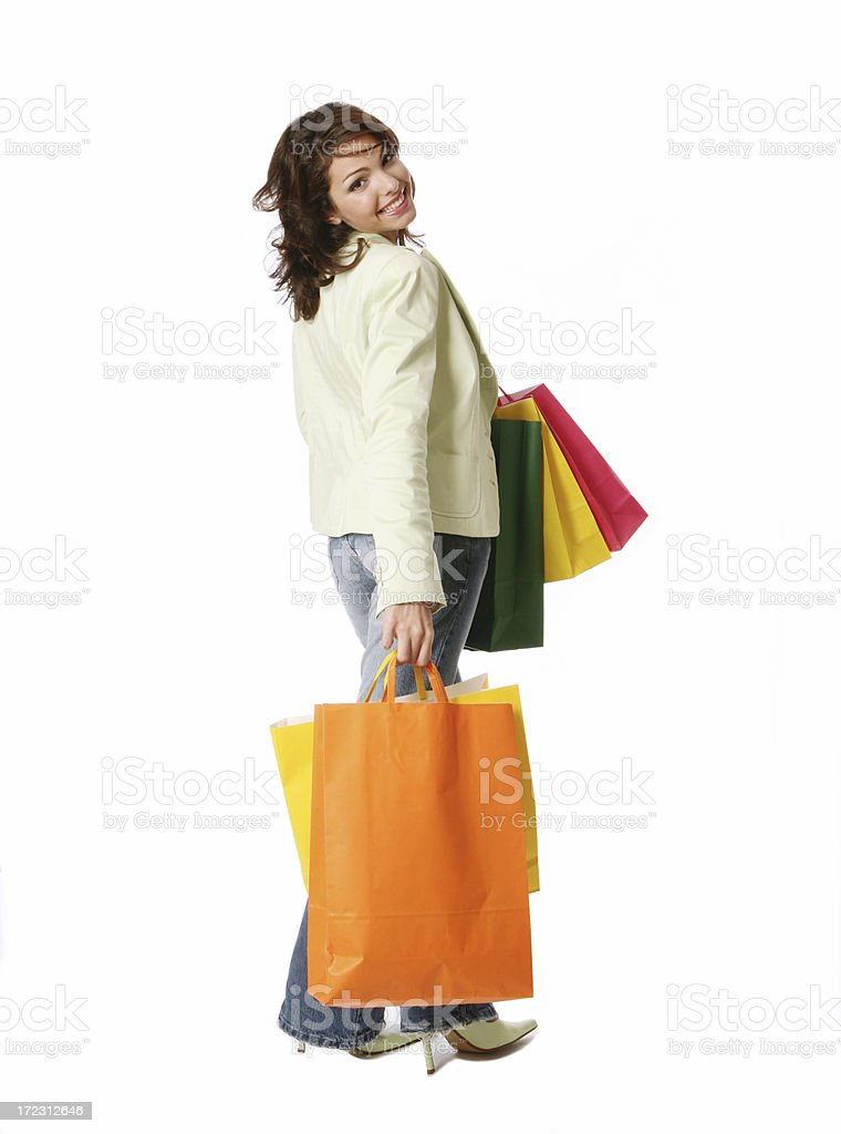 having fun with shopping royalty-free stock photo